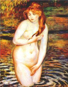 The Bather (After the Bath) - Pierre-Auguste Renoir