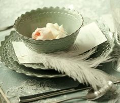 A beautiful celadon place setting.