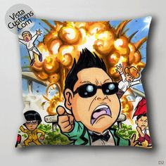PSY Gangnam style Pillow Case, Chusion Cover ( 1 or 2 Side Print With Size 16, 18, 20, 26, 30, 36 inch )