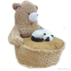 Caramel Teddy Style Pet Beds with Added Thickened Pet Mat