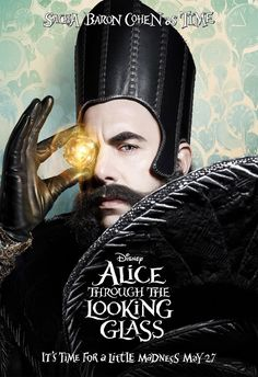 Disney is giving us our first glimpse at Johnny Depp and Mia Wasikowska in two appropriately whimsical Alice Through the Looking Glass posters. Tim Burton, Sacha Baron Cohen, Mia Wasikowska, Walt Disney Pictures, Lewis Carroll, Art Disney, Disney Movies, Disney Live, Illuminati