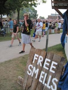 "If you were selling soap or something that has a scent this is a cute sign that would drawn in people.. Last pinner- ""Images from my Thursday at the Iowa State Fair"" by ebony"
