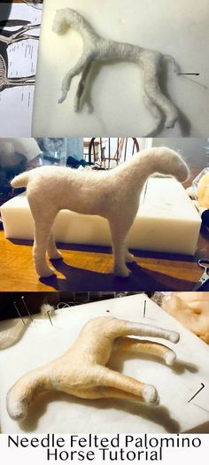 Needle Felted Horse - Wool Animal Tutorial - How to - Work in Progress - Creating a Needle Felted Animal #tutorials #howto #needlefelting #felting
