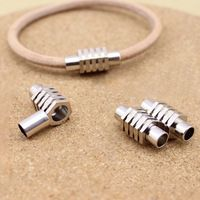 6mm inner size leather lace 10 units / lot copper magnetic clasp rhodium for DIY jewelry F1017