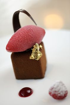 Manjari Chocolate Sponge Cake, Raspberry Jelly