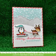 Hello and welcome to Lawn Fawn's September Inspiration Week ! We will be showcasing Toboggan Together, Ready Set Snow, Let's Bokeh, Ba. Card Tags, I Card, Gift Tags, Greeting Card, Card Making Inspiration, Making Ideas, Scrapbook Cards, Scrapbooking, Holiday Cards