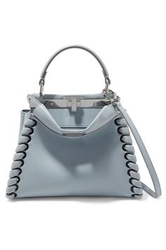 e8fe0715ded8 Light-blue leather (Lamb) Turn lock fastenings at top Weighs approximately  Designer color  Grey Powder Made in Italy