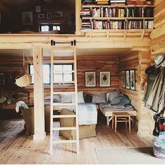 Cozy tiny cabin in Äleby Gård, Selaön, Sweden. What do you think of the interior layout?  #tinyhome #tinyhousemovement #tinyliving #tinyhouse #tinyhousenation #tinylifestyle #compactliving #smallhomes #homedecor #travel #simpleliving #traveling #travellife #wanderlust #minimalism #housegoals #interiordesign #outdoorliving #containerhome #fixerupper #hgtv #tinyhouses #backpacking #houseboat ----------------------- 📷: @pinesandcones