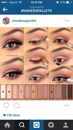 56 trendy makeup tutorial eyeshadow natural urban decay make up Eye Makeup Steps, Smokey Eye Makeup, Makeup Eyeshadow, Natural Eye Makeup Step By Step, Eyeshadow Brushes, Natural Makeup, Urban Decay Makeup, Urban Decay 3, Urban Decay Eyeshadow