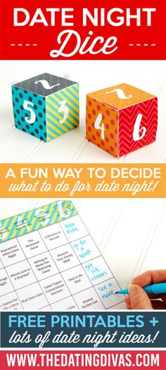 Date Night Dice Date Ideas Game - For those nights when you just can't decide!!