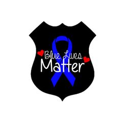 Blue lives matter, police lives matter, police support decal