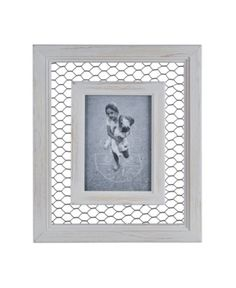 Danya B Chicken Wire Whitewash Wood Picture Frame - 5 Chicken Wire Crafts, Chicken Wire Frame, Wood Picture Frames, Picture On Wood, Wooden Crates Projects, Little Cottages, Whitewash Wood, Home Decor Paintings, Baby Clothes Shops