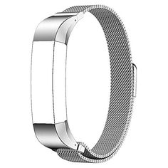 Baaletc Metal Replacement Accessory Band Interchangeable Wristband Bracelet Strap with Magnetic Clasp for Fitbit Charge 2 Fitness Tracker One Size Silver *** For more information, visit image link.