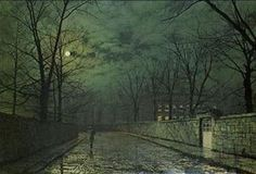 Moonlight After Rain - (John Atkinson Grimshaw)