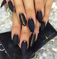 Black pointy with stones