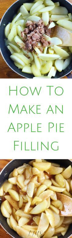Let me give you some pointers on how to make the perfect apple pie filling so that you never have a horrible apple pie ever again!