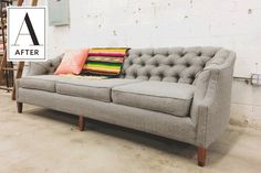 Before & After: Little Miss Muffet Reupholstered, Like, a Million Tuffets