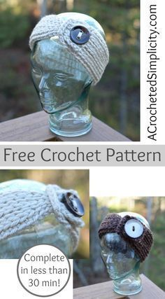 Free Crochet Pattern - Knit-Look Chunky Headwarmer by A Crocheted Simplicity
