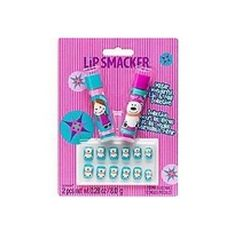 Lipsmacker Winter Wonderful Lip & Nail Collection. Two delicious moisturizing Lip Smackers together with 12 festively decorated press-on nails. Features: - Two Moisturizing Tubes of Flavored Lip Balm