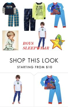 """""""BOYS SLEEPWEAR"""" by cottoncandy1223 ❤ liked on Polyvore featuring Disney"""