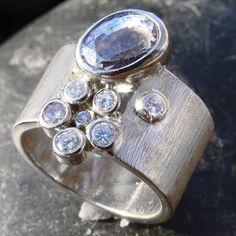 lavender sapphire gap stack with lavender diamonds