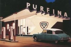 Blog – Tankstation Purfina (1957) in Arnhem door Sybold van Ravesteyn Doors, Vehicles, Car, Garden, Blog, Automobile, Lawn And Garden, Cars, Cars
