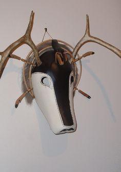 Shaman animal spirit mask; Yupik people, Southwest Alaska, not Mexican