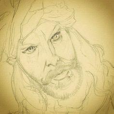 sale e scende la marea che tutto copre e tutto crea... ettobasciano.wordpress.com #Sketch #Art #WIP #pencil #inking #Draw #Disegno #Illustration #watercolor #Sandokan #KabirBedi #Salgari