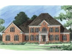 Colonial House Plan with 4326 Square Feet and 6 Bedrooms from Dream Home Source | House Plan Code DHSW55083