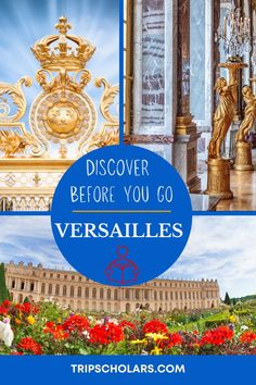 Plan a perfect trip to the Palace of Versailles by learning about the culture and history of this infulential palace before you visit. We share the best documentaries, books, music, children's activities, shows, movies, and more to help you have the ultimate trip to the Palace of Versailles. Palace of Versailles Travel | Trip to the Palace of Versailles | Day Trip from Paris | History Travel | Travel Planning | France Travel Plan Packing List For Vacation, Vacation Trips, France Europe, France Travel, Day Trip From Paris, Palace Of Versailles, European Destination, Historical Sites, Trip Planning