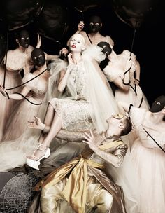 "The Look: ""Holding Court "" - Masha Kirsanova photographed by Yuval Hen and styled by Damian Foxe for How to Spend It, November 2011 #baroque"