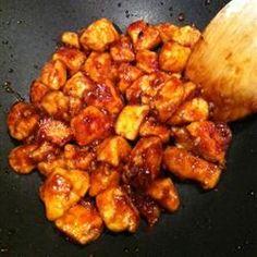 Ten Minute Szechuan Chicken - sooooo gooooood omg.... make sure you have a wok to make this if you want to skip the mess.