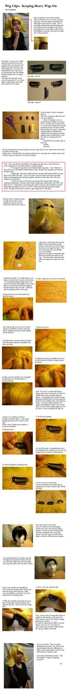 Wig Clips: Keeping Heavy Wigs On   Arda Wigs