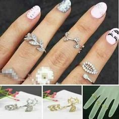 3pcs Fashion Alloy Gold/Silver Knuckle Finger Ring Fashion statement rings Jewelry Rings