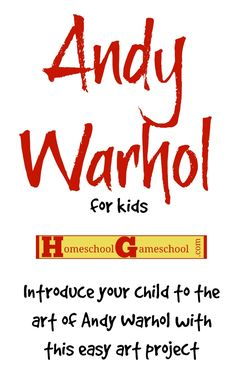Introduce your kids to the art of Andy Warhol with this Andy Warhol Art Project for Kids