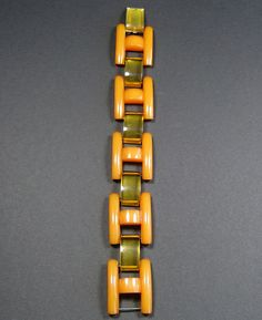 Yellow bakelite gate style bracelet from the Vintage Costume Jewelry, Vintage Costumes, Vintage Jewelry, Elsa Schiaparelli, Fashion Bracelets, Bangle Bracelets, Bangles, Baubles And Beads, Jewelry Design