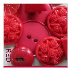 Red vintage buttons...would love to craft with these for Valentines...