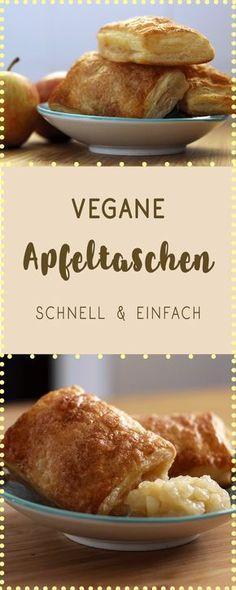 Vegan backen: einfache Apfeltaschen!
