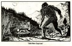 """""""Both were surprised"""" Fantastic 50s newspaper illustration from an unknown artist."""