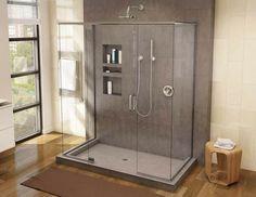 The Best Tile-Ready Shower Pans Tile Shower Niche, Shower Floor Tile, Shower Wall Panels, Shower Pan Drain, Tile Ready Shower Pan, Tub Enclosures, Shower Enclosure, Shower Pan Installation, Shower Wheelchair
