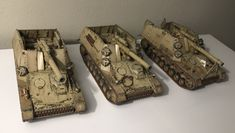 1/87 HO Hummel early production custom made from Roco minitanks kits. 2 panzer division three of six vehicles operating in the northern part of battle of Kursk