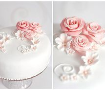 Inspiring picture cake, beautiful, design, flowers, white. Resolution: 500x373 px. Find the picture to your taste!