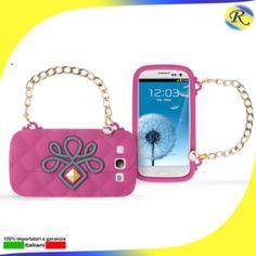 TRF Oblige Matelassè,cover in silicone per Samsung Galaxy s3 colori:rosa,grigio