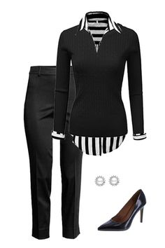 Like this chic work outfit? Visit outfitsforlife.com for links to find each item pictured and for even more great outfit inspo! #outfits #ootd #fashion #businesscasual #workoutfit
