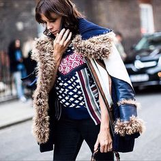 Curly Lamb It's So Glam! #shearling #leather #jacket #streetstyle #layeredlook #fur #style #mode #design #nyc #fall #fashion #keepitchic #furfashion #manoswartz #est1889