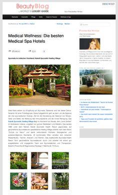 Ayurveda, Medical Wellness, Spa Hotel, Hotels, Blog, Beauty, Blogging, Beauty Illustration