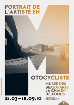 'Portrait de L'Artiste en Motocycliste' at the Museum of Fine Arts in La Chaux-de-Fonds (Design: onlab, Thibaud Tissot)