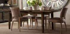 RH's Rectangular Table Collections:At Restoration Hardware, you'll explore an exceptional world of high quality unique dining room furniture. Browse our selection of dining room furniture sets & more at Restoration Hardware. Kitchen Table Chairs, Kitchen Seating, Dining Table Chairs, Dining Room Furniture, Dining Set, Tables, Adele, Restoration Hardware Table, Natural Wood Table