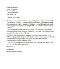 Interview Thank You Letter Template   Interview, Letter templates ...