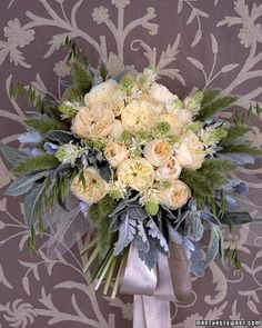 Blue and Silver Wedding Bouquet